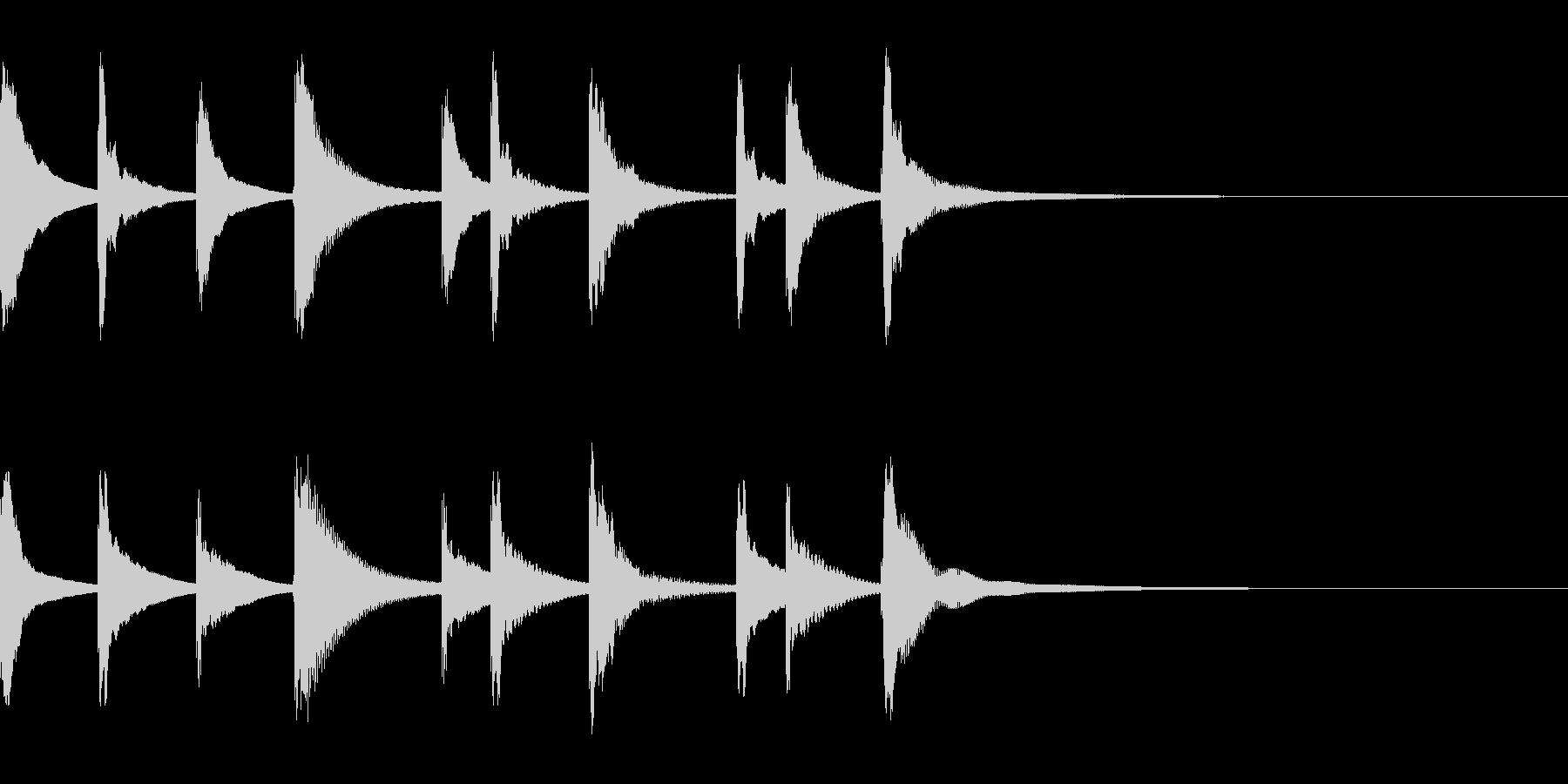 シロフォンの悲しい5秒のジングルの未再生の波形