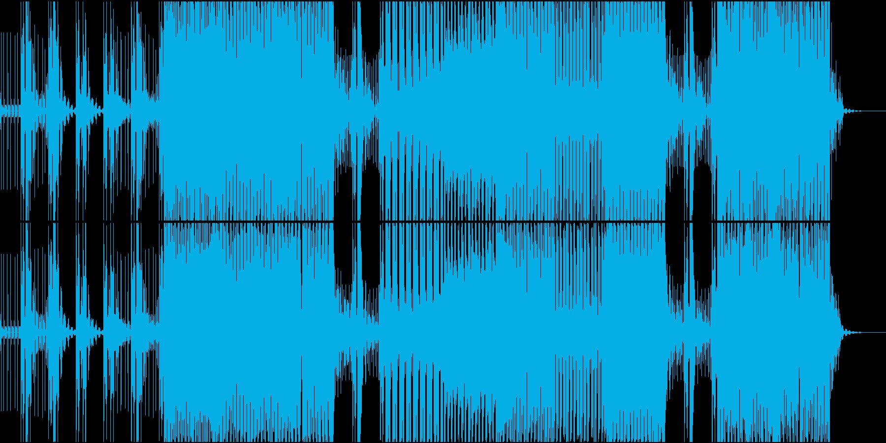 テクノ風BGMの再生済みの波形