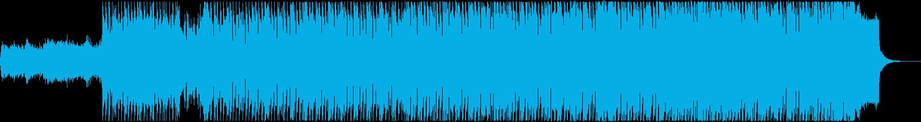 希望的で平和的な雰囲気のテクノポップの再生済みの波形