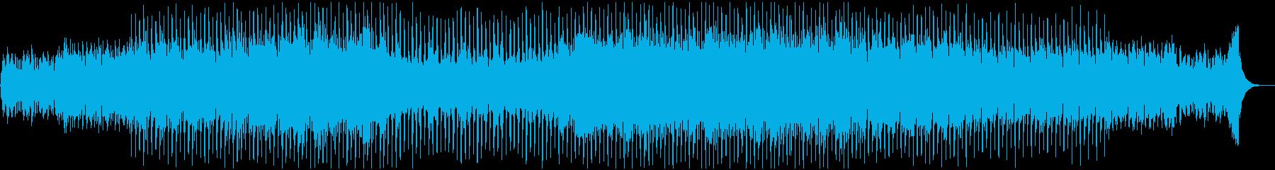 ミステリアスで謎に迫る様な神秘的BGMの再生済みの波形