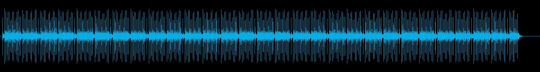 リズミカルなテンポの打楽器ミュージックの再生済みの波形