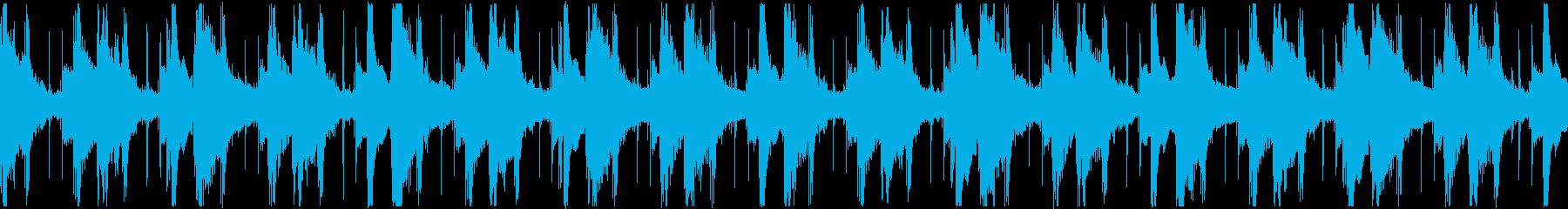 引きずるダウンテンポヒップホップ_ループの再生済みの波形