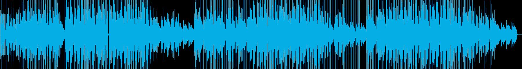 ジャズ風味のあるローファイヒップホップの再生済みの波形
