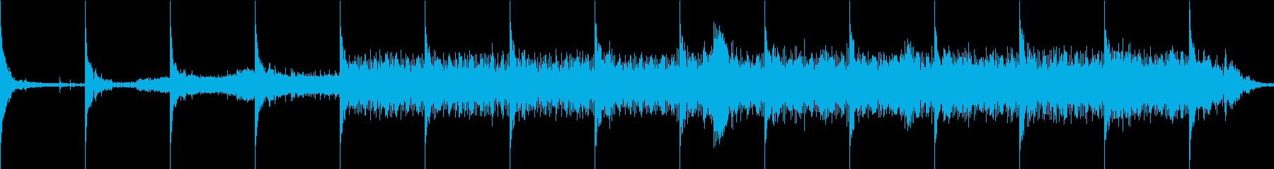 緊張感、機械音、ホラー系ループ素材の再生済みの波形