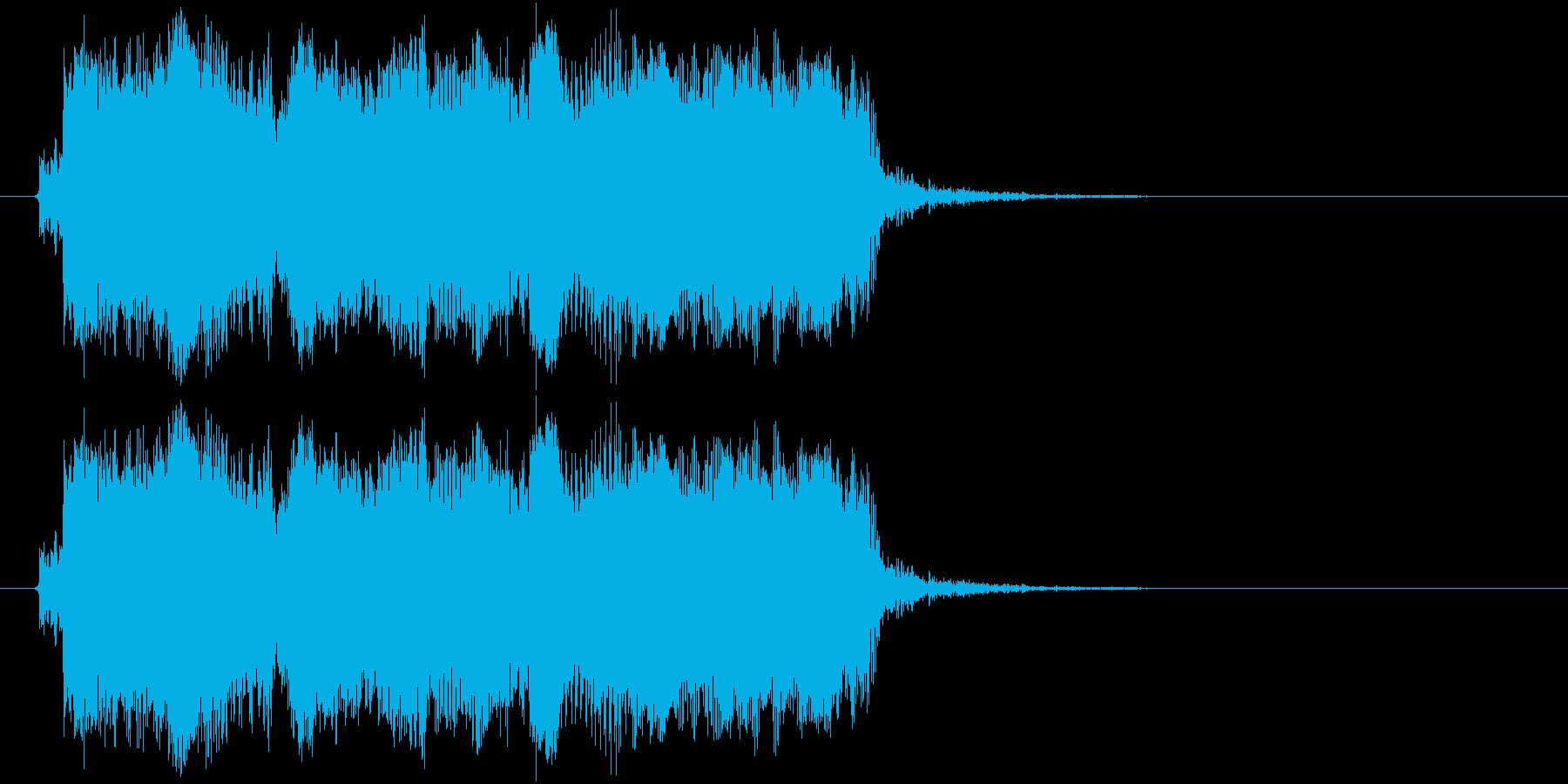 ギターフレーズ007の再生済みの波形