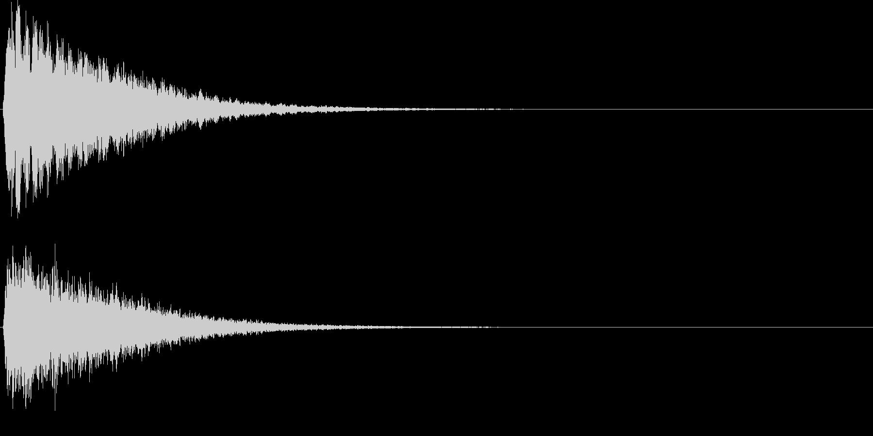 ピーン。気づく・思い出す音Eの未再生の波形