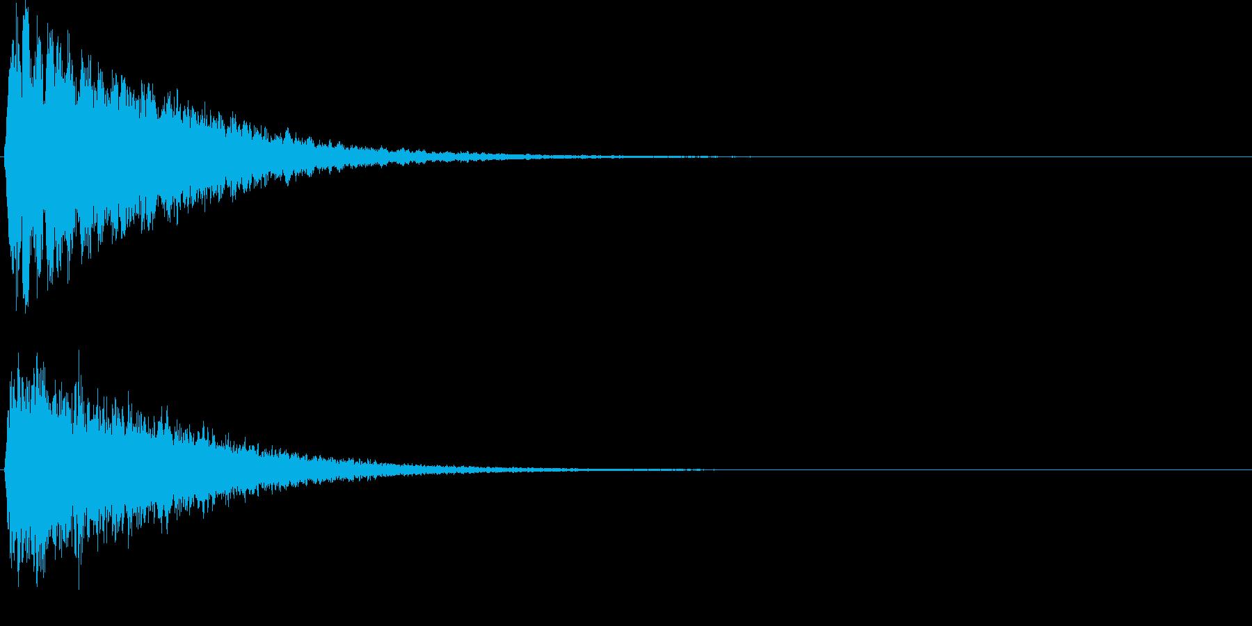 ピーン。気づく・思い出す音Eの再生済みの波形