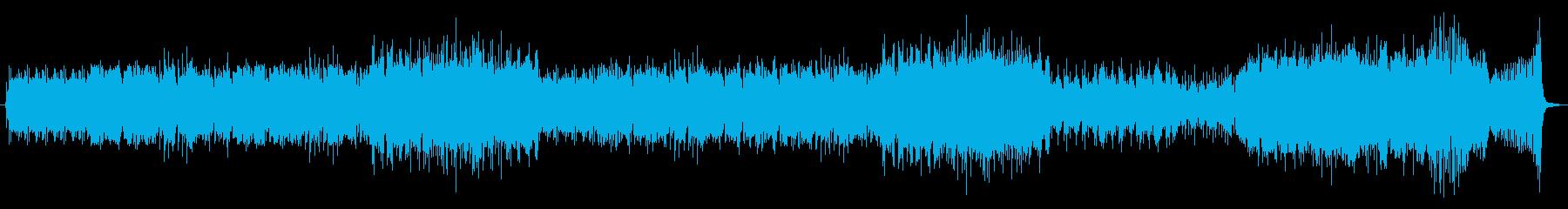 チェロテーマの疾走する3拍子インスト曲の再生済みの波形