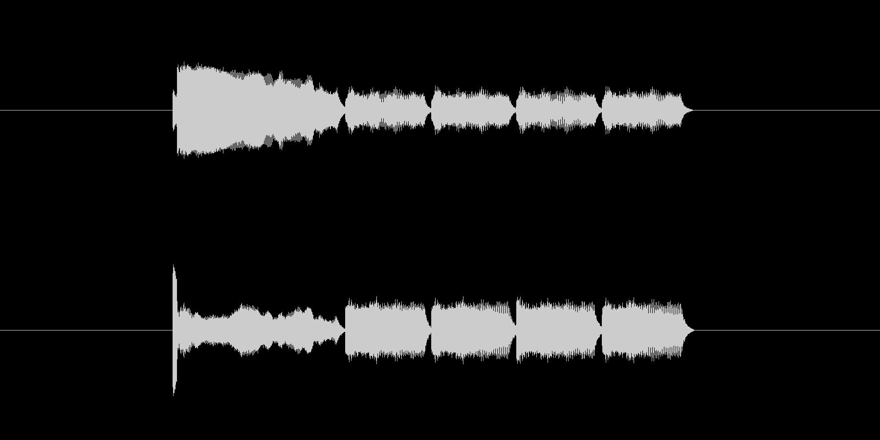 「14」を表す音のカウンターですの未再生の波形