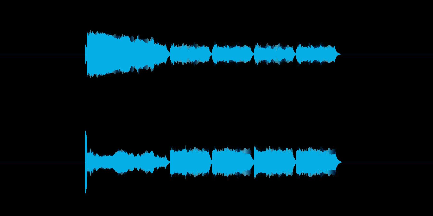 「14」を表す音のカウンターですの再生済みの波形