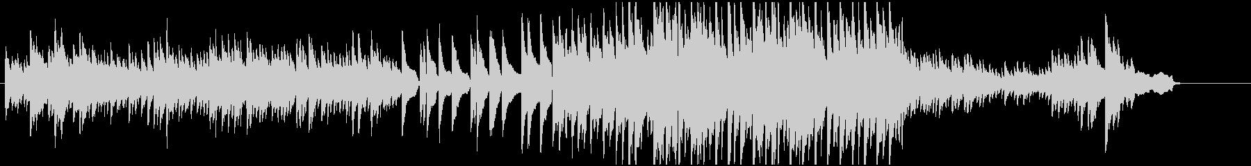 静かなピアノ曲の未再生の波形