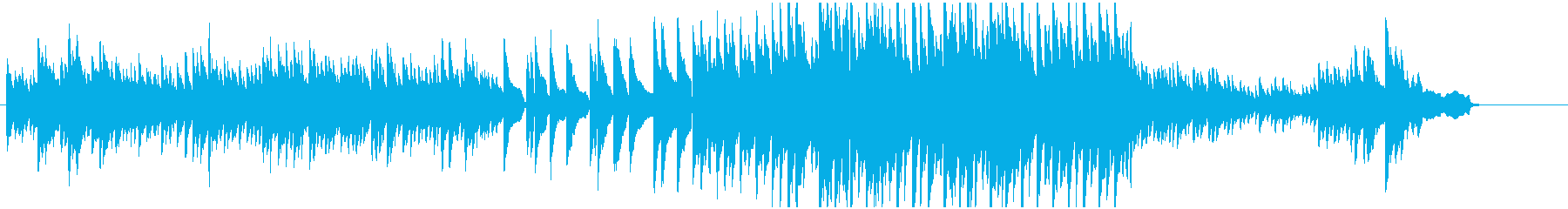 静かなピアノ曲の再生済みの波形