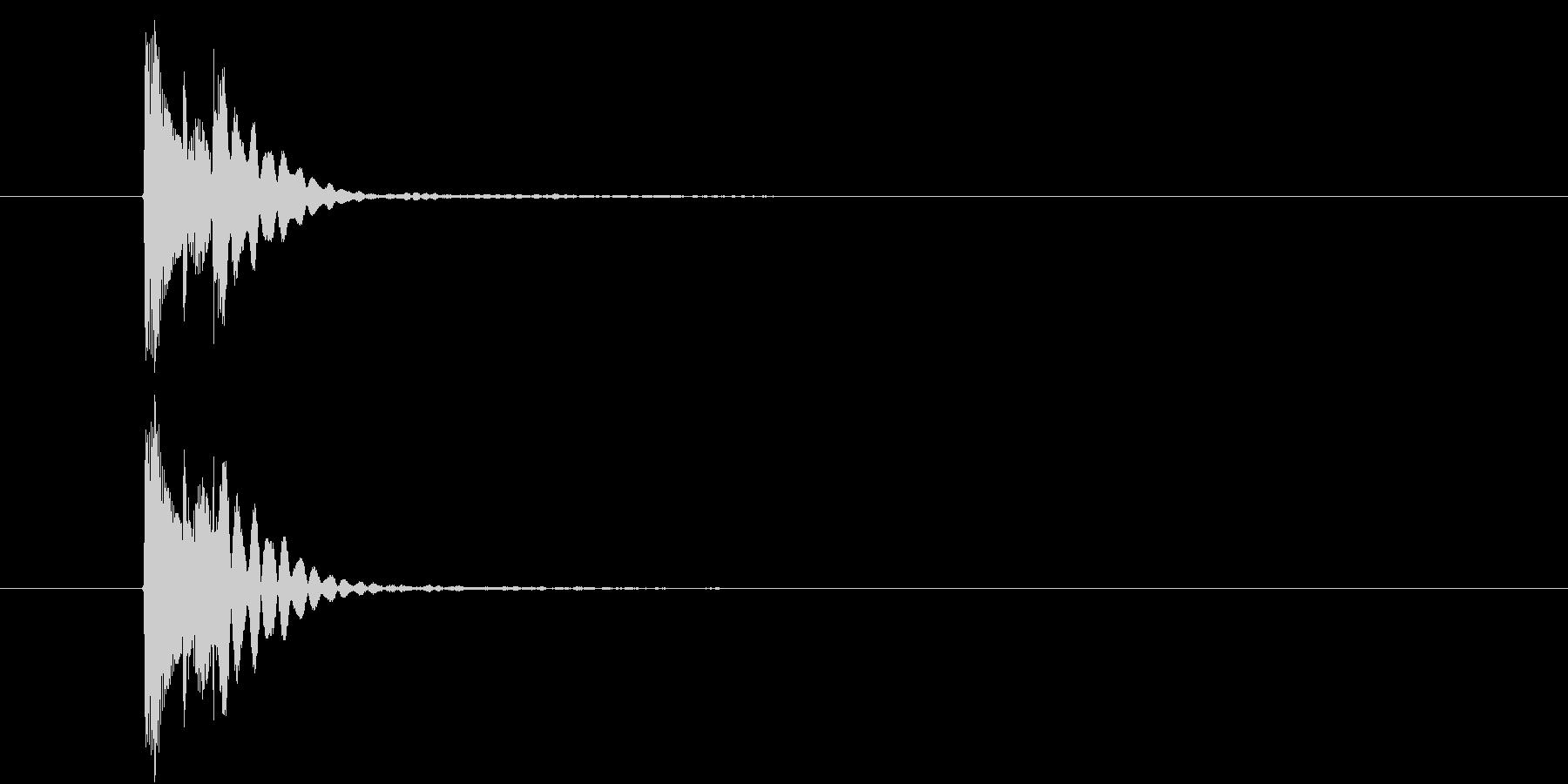 ポロン④(SNS・メール通知・決定音)の未再生の波形