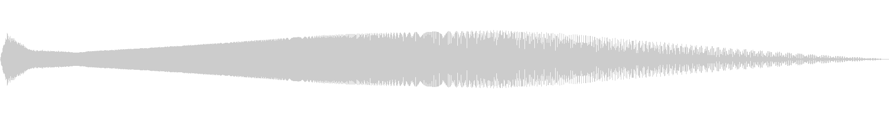 下降正弦波スイーパーの未再生の波形
