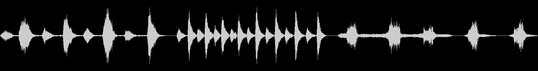 人間、呼吸、呼吸、いびき、5つのバ...の未再生の波形