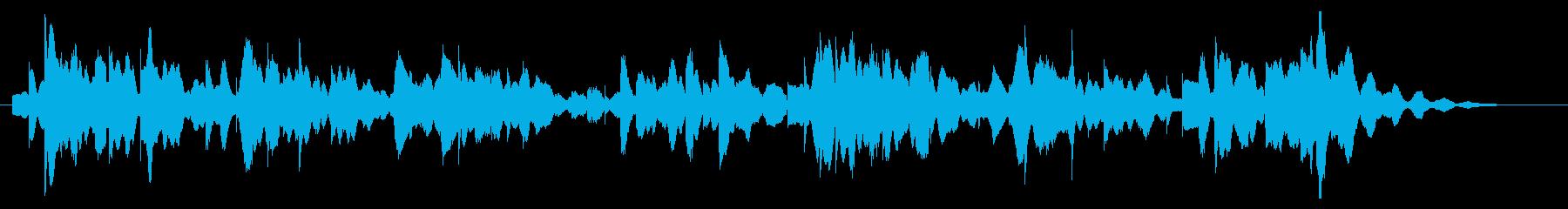 落ち着いたオルゴールのような電子ピアノ曲の再生済みの波形