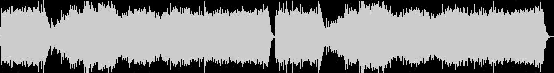 不気味で壮大なシネマ系ホラーBGMの未再生の波形