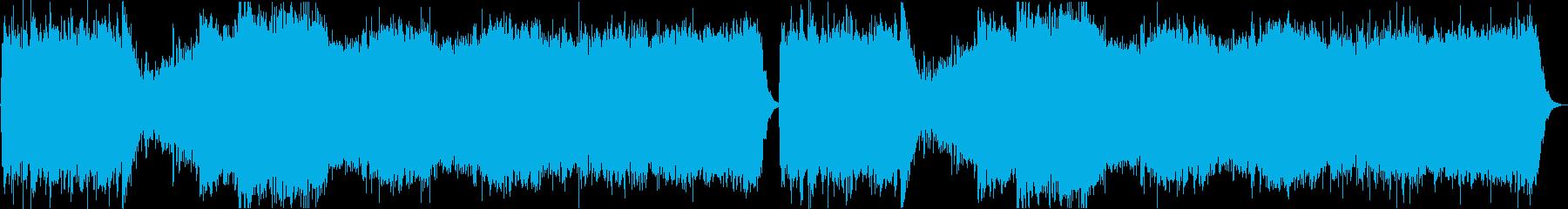 ホラー映画に最適なBGMの再生済みの波形