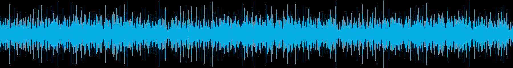 ウクレレと鉄琴のコミカルな BGMの再生済みの波形