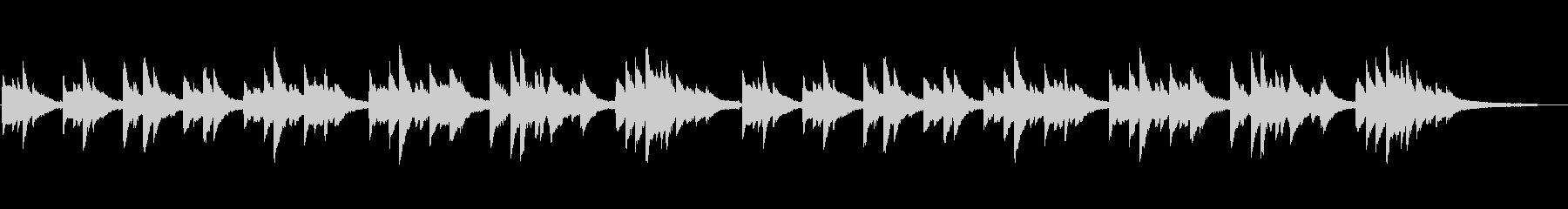 「きよしこの夜」シンプルなピアノソロの未再生の波形