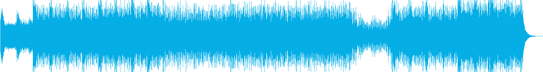 リズミカルでデジタルなテクノポップBGMの再生済みの波形