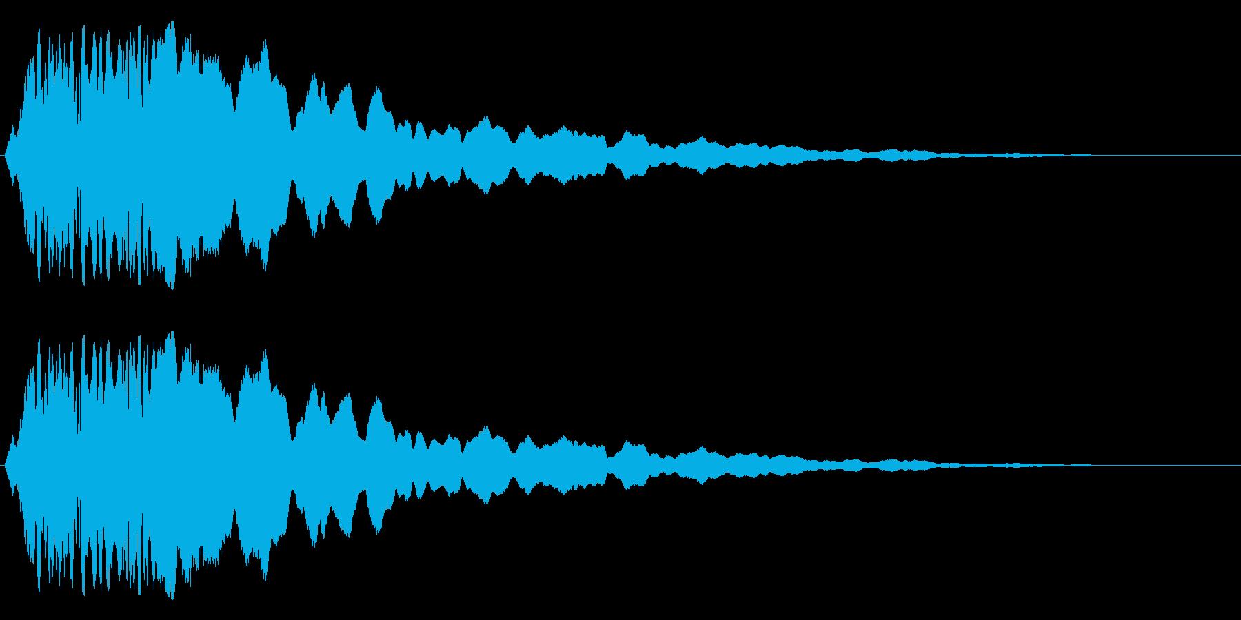 ピューピーーーの再生済みの波形