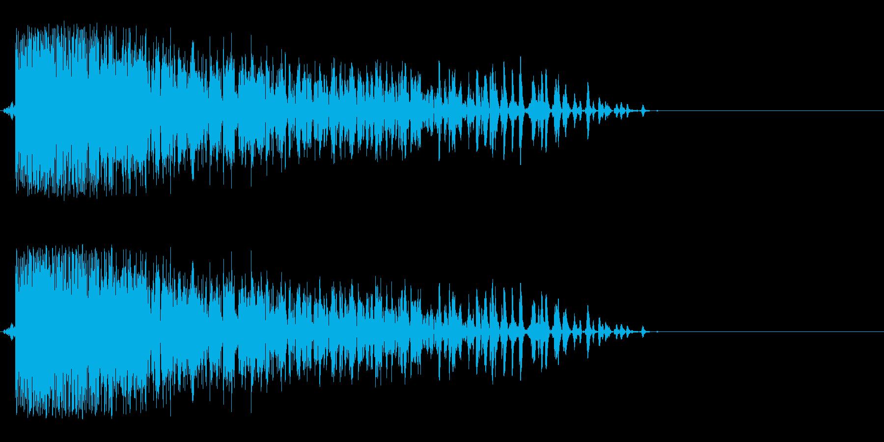 効果音、爆発、ボカーン、ドカーン、爆弾の再生済みの波形