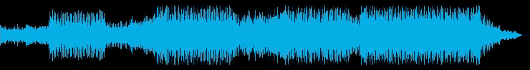 情熱的に大空を飛び回るEDMの再生済みの波形