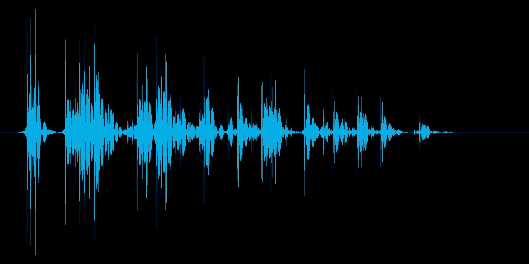 ゲーム(ファミコン風)爆発音_018の再生済みの波形