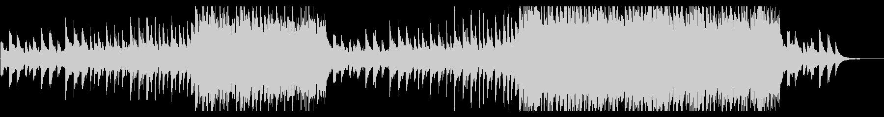 感動的に盛り上がるピアノとストリングスの未再生の波形