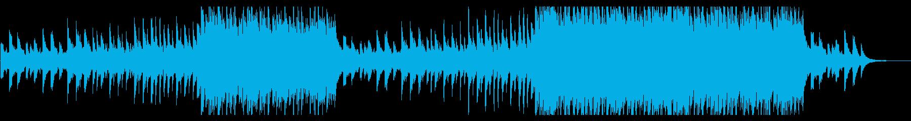 感動的に盛り上がるピアノとストリングスの再生済みの波形