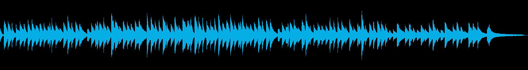 ゆったり安らぎの美しい旋律のピアノワルツの再生済みの波形