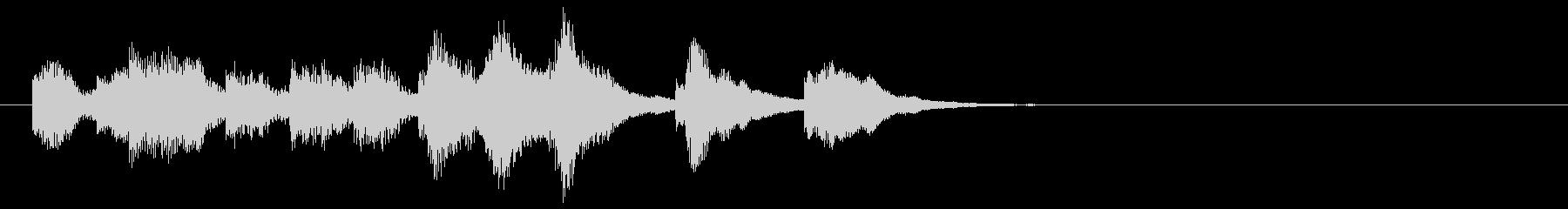 のほほんジングル002_かわいいの未再生の波形