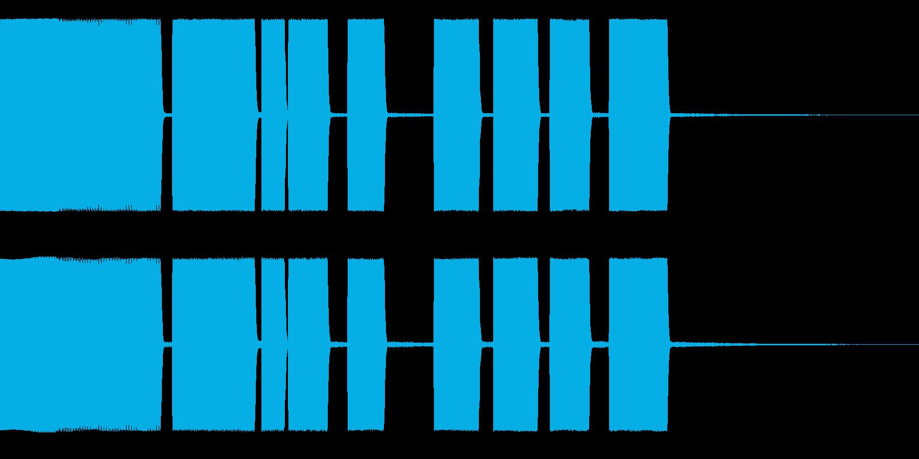 Beep1アラーム、着信音の再生済みの波形