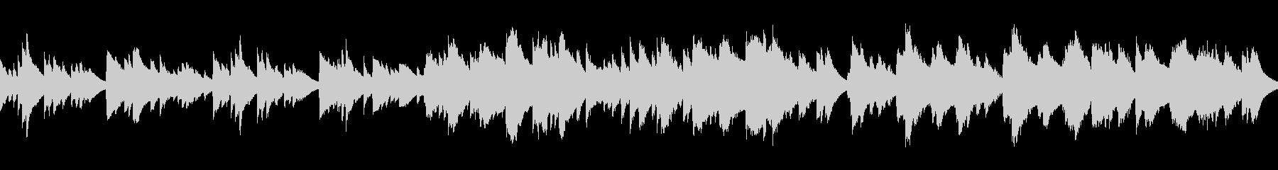 3拍子のシンプルなオルゴールの未再生の波形