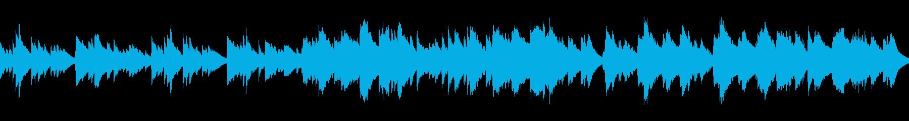 3拍子のシンプルなオルゴールの再生済みの波形