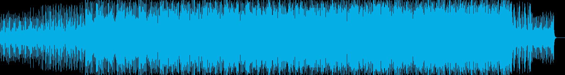 柔らかい雰囲気のエレクトリカルBGMの再生済みの波形