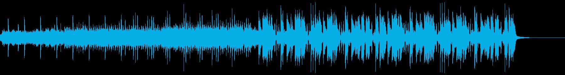 変化球な感じの変則ビートの再生済みの波形