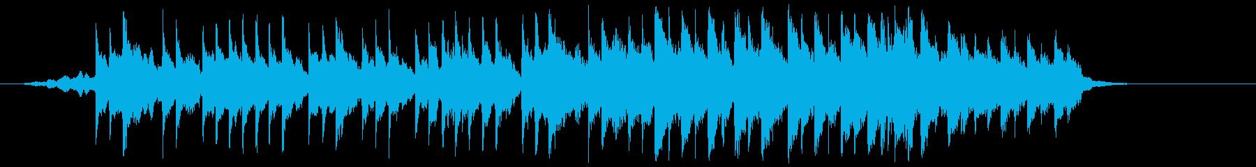 和楽器で夜桜をイメージした和風BGMの再生済みの波形