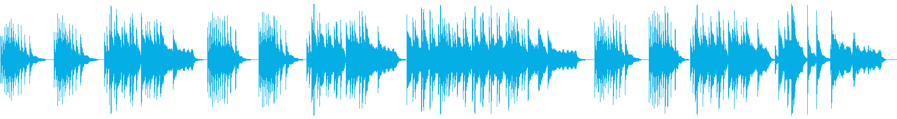 Healing music played on the piano's reproduced waveform