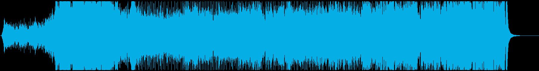 目覚める力、立ち上がる場面のBGMの再生済みの波形