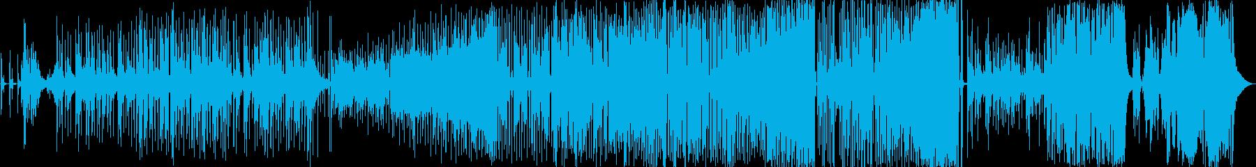 ピアノメインのゆったりとして爽やかな曲の再生済みの波形