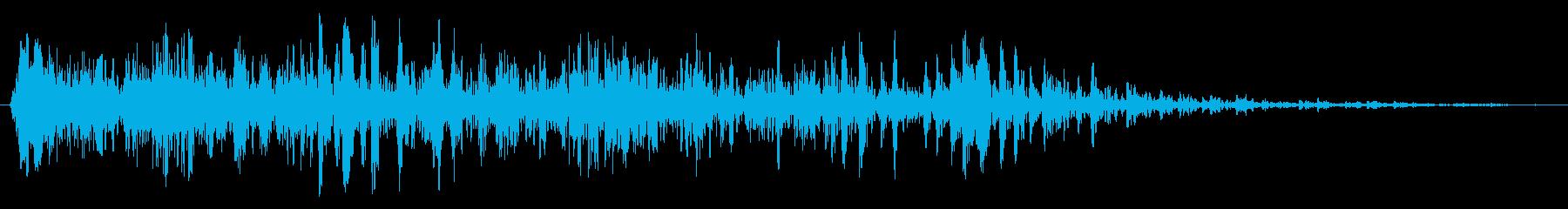 低いゴロゴロの鳴き声クリーチャーの...の再生済みの波形