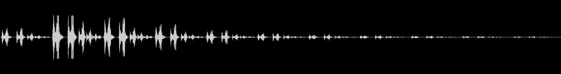 ポワワッポワワッ (浮遊感)の未再生の波形