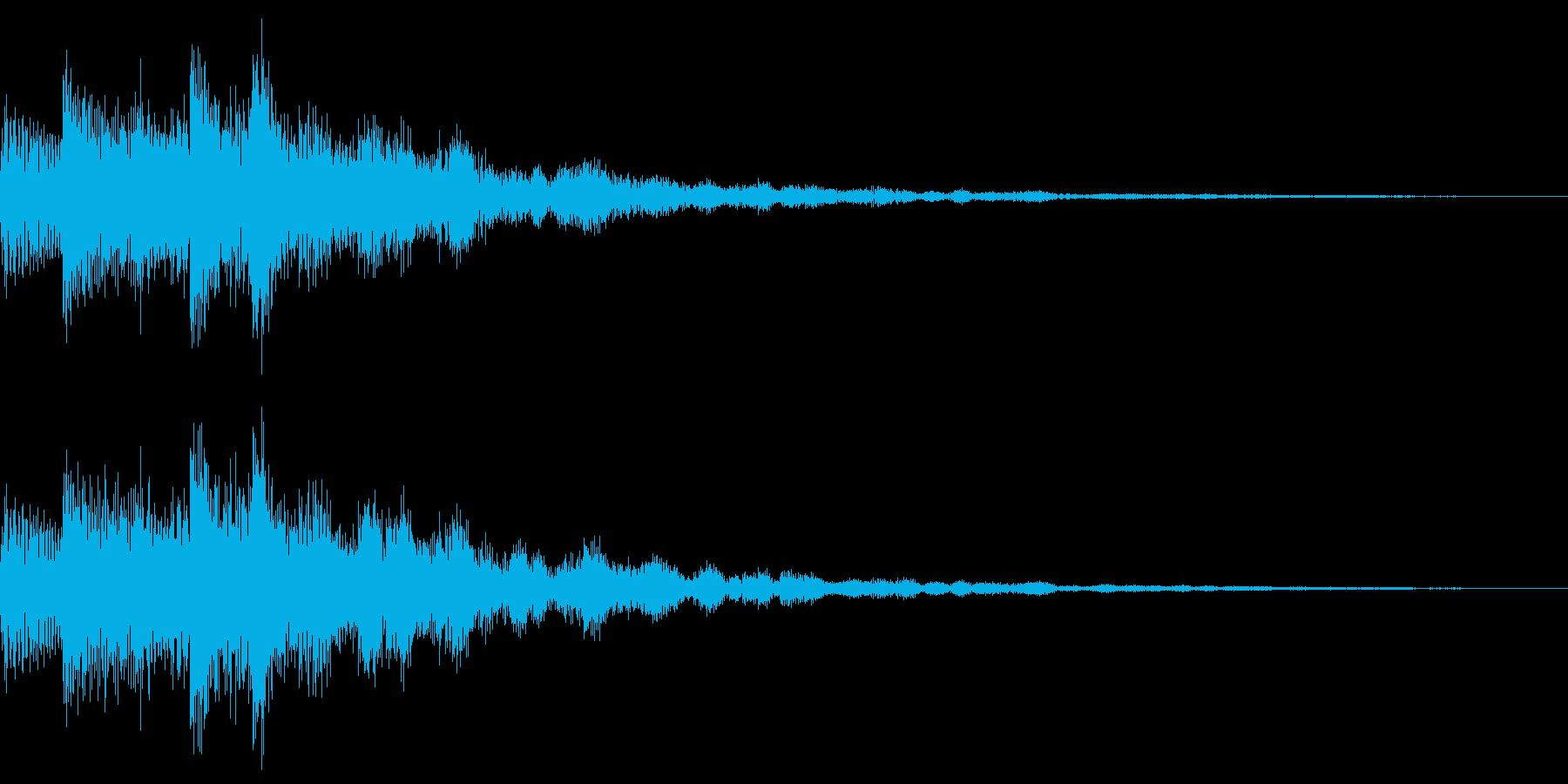キラキラ音です。決定やスタート音などにの再生済みの波形