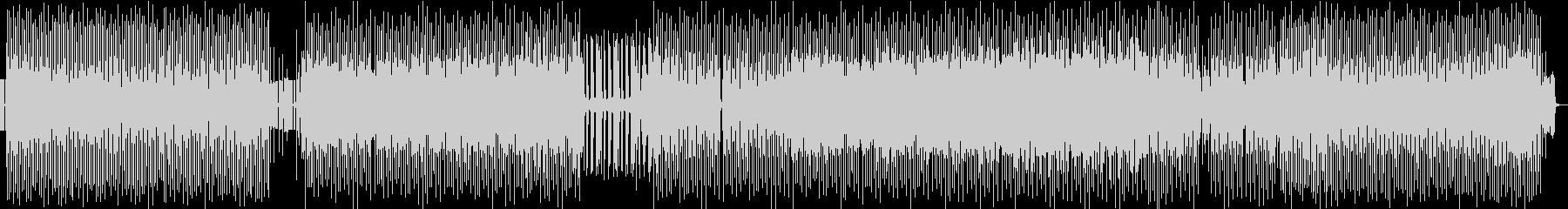 退廃的要素のない旋律を融合させたテクノの未再生の波形