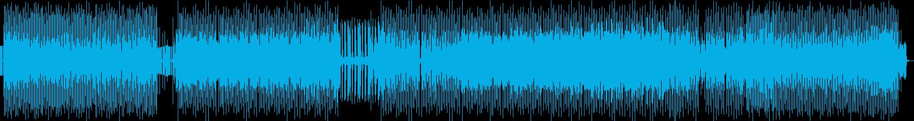 退廃的要素のない旋律を融合させたテクノの再生済みの波形