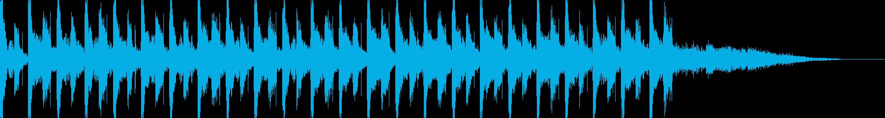 ほのぼのとしたテクノポップスの再生済みの波形