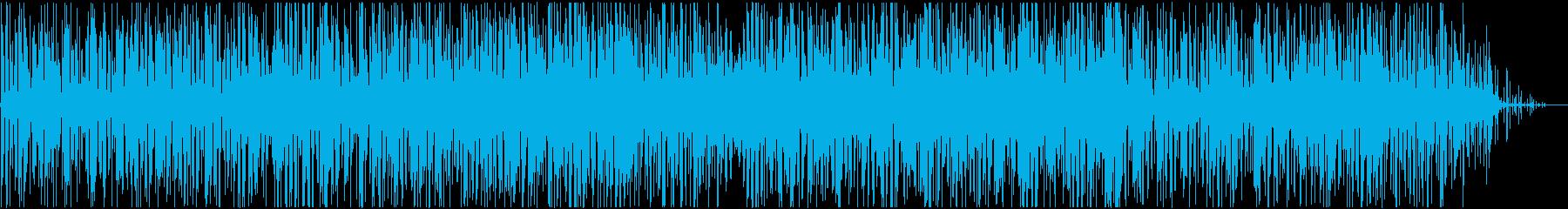 科学・報道向け、軽めなアンビエントテクノの再生済みの波形