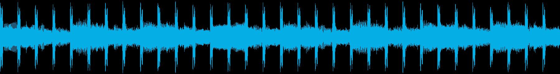 説明者(ループ)の再生済みの波形
